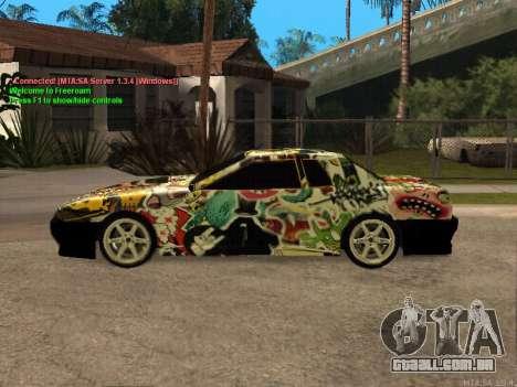 New Elegy para GTA San Andreas vista superior