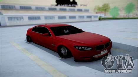 BMW 750 Li Vip Style para GTA San Andreas vista traseira