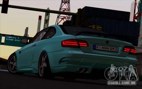 BMW M3 Hamann para GTA San Andreas traseira esquerda vista