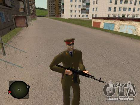 Major-General do exército russo para GTA San Andreas por diante tela