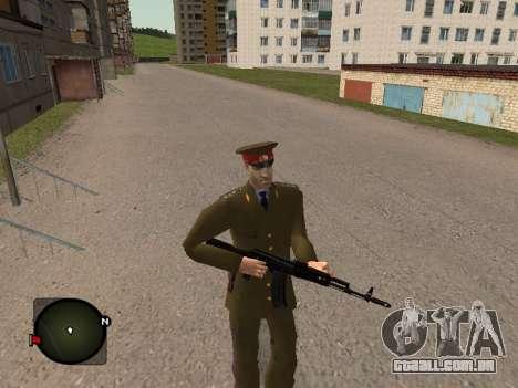 Major-General do exército russo para GTA San Andreas por diante tela