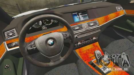 BMW M5 Croatian Police [ELS] para GTA 4 vista interior