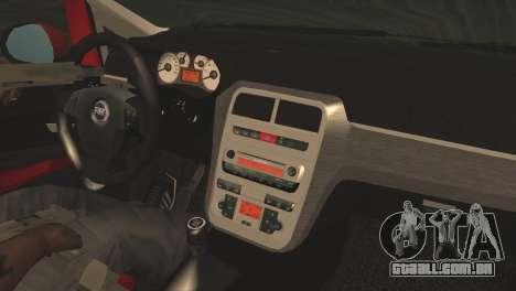 Fiat Grande Punto para GTA San Andreas vista direita