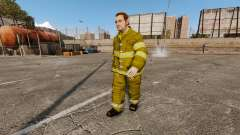 Uniformes amarelos para bombeiros