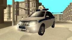 Lada Granta 2190 polícia v 2.0 para GTA San Andreas