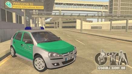 Opel Corsa 1.2 200516V Polizei para GTA San Andreas