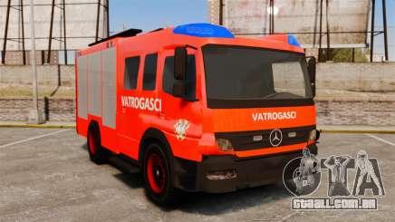 Mercedes-Benz Atego Koprivnica Fire Dept. [ELS] para GTA 4