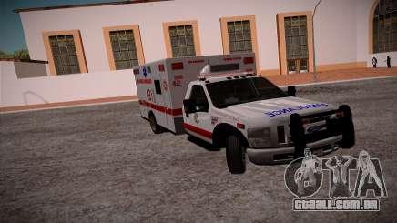 Ford F350 Super Duty San Andreas Emerency Medica para GTA San Andreas