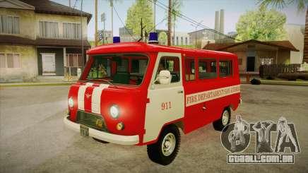 Sede UAZ 452 bombeiro SA para GTA San Andreas