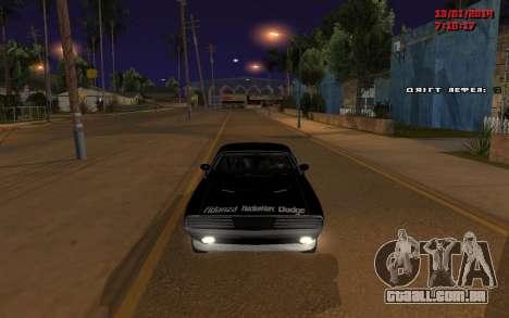 Challenger Missile para GTA San Andreas esquerda vista