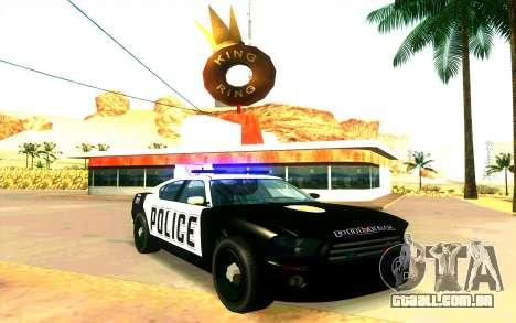 Police Buffalo GTA V para GTA San Andreas traseira esquerda vista