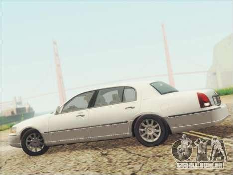 Lincoln Town Car 2010 para GTA San Andreas vista superior