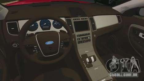 Ford Taurus SHO 2010 para GTA 4 vista interior