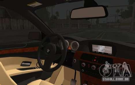 BMW 530xd DPS para GTA San Andreas vista traseira
