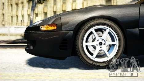 Mitsubishi GTO Twin Turbo 1992 para GTA 4 traseira esquerda vista
