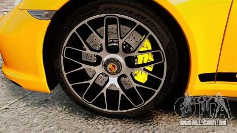 Porsche 911 Turbo 2014 [EPM] Turbo Side Stripes para GTA 4 vista de volta