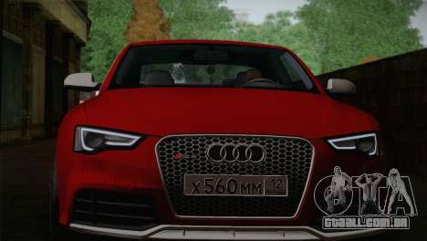 Audi RS5 2012 para GTA San Andreas vista interior