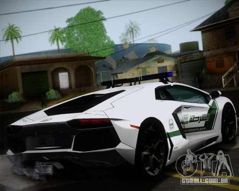 Lamborghini Aventador LP700-4 2012 RCPD V1.0 para GTA San Andreas vista traseira