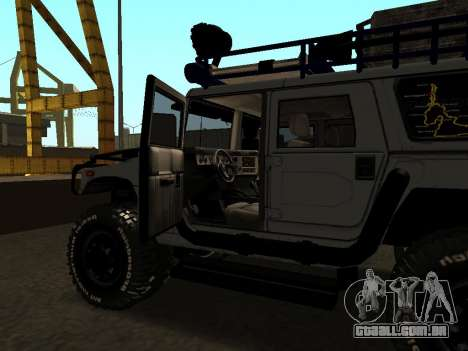 Hummer H1 Offroad para vista lateral GTA San Andreas