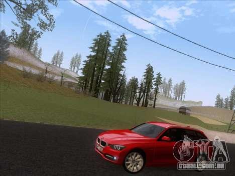 BMW 3 Touring F31 2013 para GTA San Andreas esquerda vista