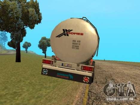Tanque Xoomer para GTA San Andreas traseira esquerda vista