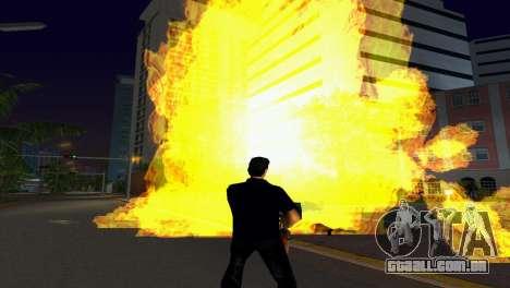 Novos efeitos gráficos v. 2.0 para GTA Vice City por diante tela