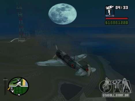 LA-5 para GTA San Andreas traseira esquerda vista