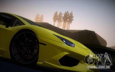 Lamborghini Aventador LP720-4 50th Anniversario para GTA San Andreas traseira esquerda vista