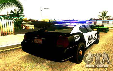 Police Buffalo GTA V para GTA San Andreas esquerda vista