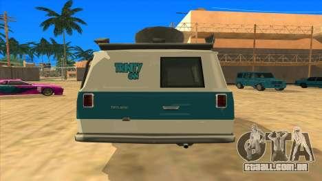 News Van HQ para GTA San Andreas traseira esquerda vista