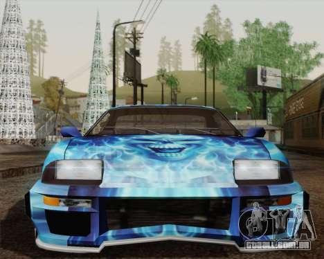 O trabalho de pintura para bobo da corte para GTA San Andreas vista traseira
