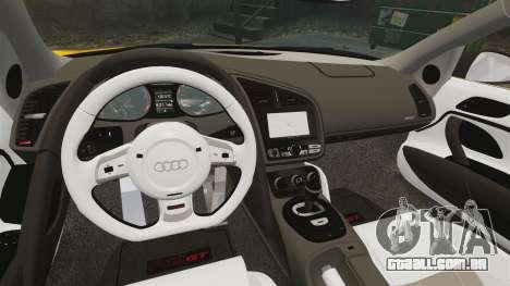 Audi R8 GT Spyder para GTA 4 vista interior
