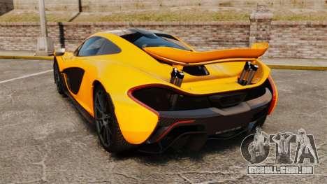 McLaren P1 2014 [EPM] para GTA 4 traseira esquerda vista