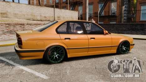 BMW M5 1995 para GTA 4 esquerda vista