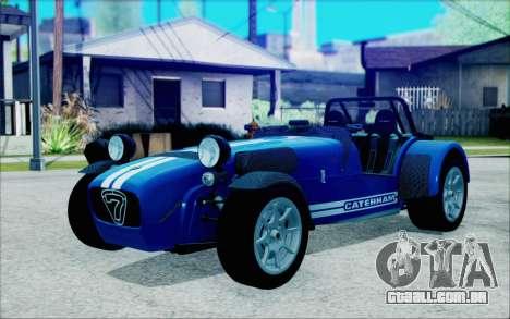 Caterham R500 Superlight 2008 para GTA San Andreas