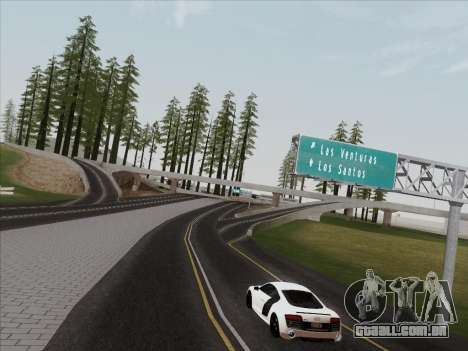 Audi R8 V10 Plus para GTA San Andreas vista traseira