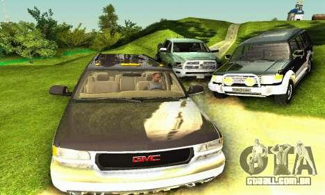 GMC Yukon XL 2003 para GTA San Andreas vista traseira