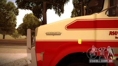 Kenworth RoadTrain T800 para GTA San Andreas esquerda vista