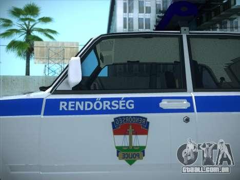 Lada 2107 Rendőrség para GTA San Andreas traseira esquerda vista