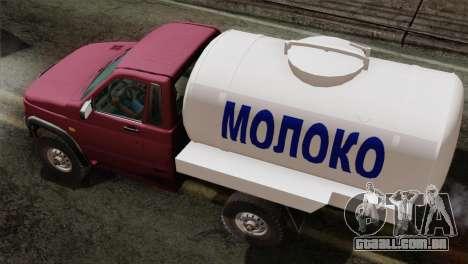 UAZ-2360 leite para GTA San Andreas traseira esquerda vista