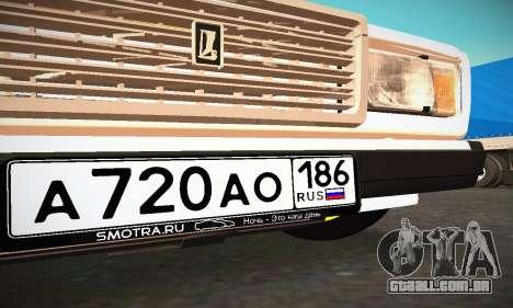 VAZ 2107 BUNKER para GTA San Andreas vista superior