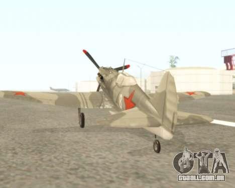 MIG-3 para GTA San Andreas vista direita