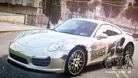 Porsche 911 Turbo 2014 para GTA 4 vista de volta