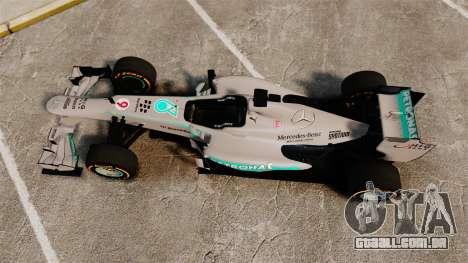 Mercedes AMG F1 W04 v3 para GTA 4 vista direita