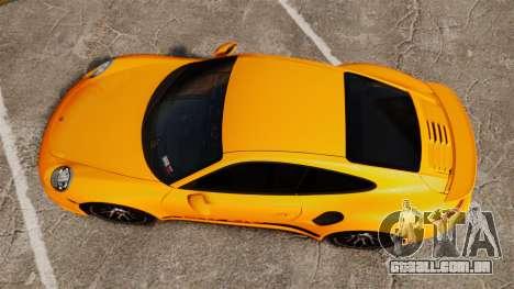 Porsche 911 Turbo 2014 [EPM] Turbo Side Stripes para GTA 4 vista direita