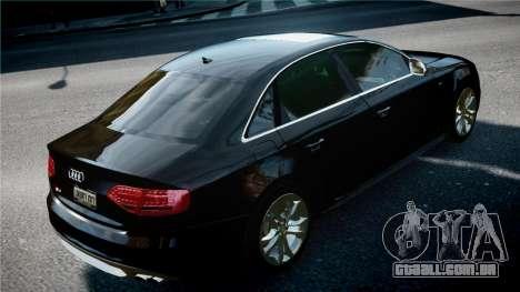 Audi S4 2010 para GTA 4 vista direita