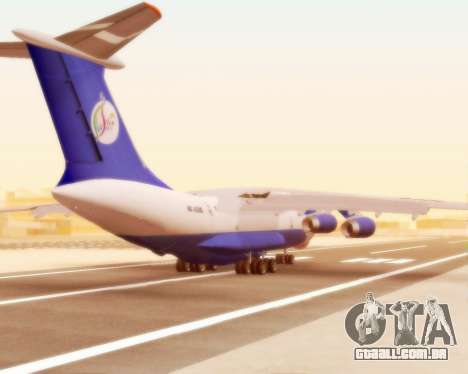 Il-76td forma de seda para GTA San Andreas vista direita