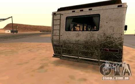 Jornada de GTA 5 para GTA San Andreas traseira esquerda vista