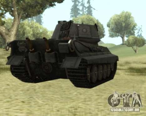 PzKpfw VIB Tiger II para GTA San Andreas vista traseira
