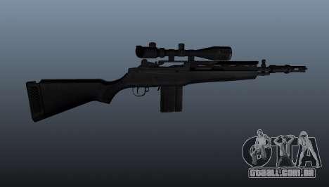 O rifle semi-automático M14 para GTA 4 terceira tela